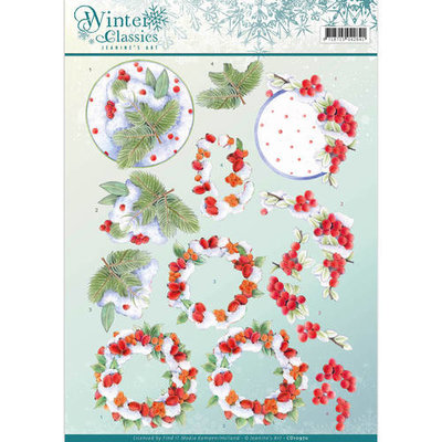 CD10970 – 3D Knipvel - Jeanine's Art - winter classics- Winterberries
