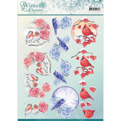 CD10968 – 3D Knipvel - Jeanine's Art - winter classics- Christmas Birds