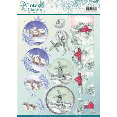 CD10967 – 3D Knipvel - Jeanine's Art - winter classics- Christmas Landscapes