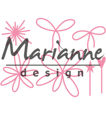 COL1441 – Marianne Design – Collectables – Giftwrapping - Karin's pins & bows