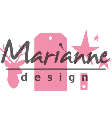 COL1442 – Marianne Design – Collectables – Giftwrapping - Karin's deer, stars & tag