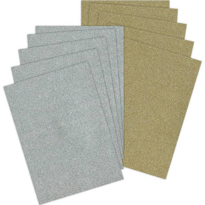 PMA8888 - Papermania - Glitter Pack - A6 - 10 pcs  - goud en zilver