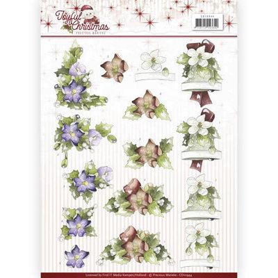 CD10944 – 3D Knipvel - Precious Marieke - Joyful Christmas - Christmas rose