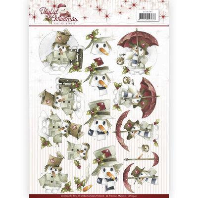 CD10942 – 3D Knipvel - Precious Marieke - Joyful Christmas – Snowman
