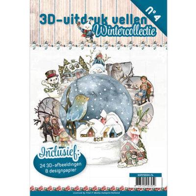 3D uitdrukvellen boek 4 Wintercollectie