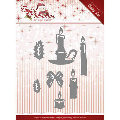 PM10105 – Die – Precious Marieke - Joyful Christmas - Christmas Candles