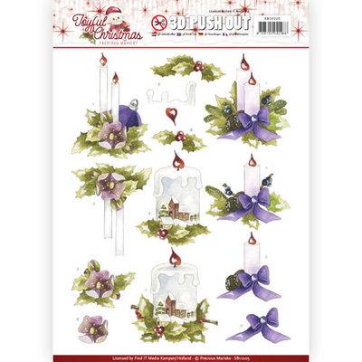 SB10205 – Pushout - Precious Marieke - Joyful Christmas - Christmas candles