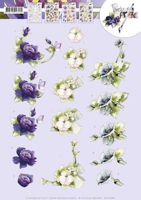 CD10992 - 3D knipvel - Precious Marieke - Spring flowers