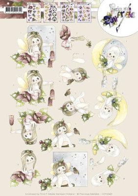 CD10945 - 3D knipvel - Precious Marieke - Christmas Angels