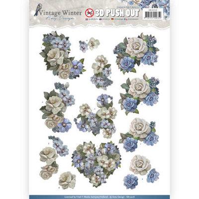SB10216 – Pushout – Amy Design - Vintage Winter - Winter Flowers