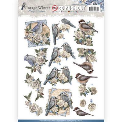 SB10215 – Pushout – Amy Design - Vintage Winter - Winter Birds