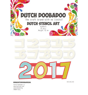 470.990.100 Dutch DooBaDoo – Stencil Art – Numbers 2 (0-9)