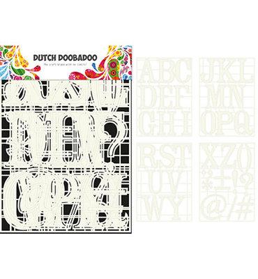 470.715.820 Dutch DooBaDoo – Stencil Art – A-Z (4 stencils)