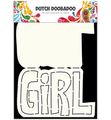 470.713.649 Dutch DooBaDoo – Card Art – Text 'Girl' A5