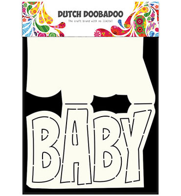 470.713.647 Dutch DooBaDoo – Card Art – Text 'Baby' A5