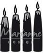 CR1425 – Marianne Design – Caftables – Advent Candles