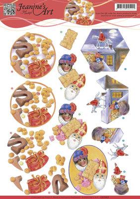 CD11015 - 3D Knipvel - Jeanines Art - Sinterklaas