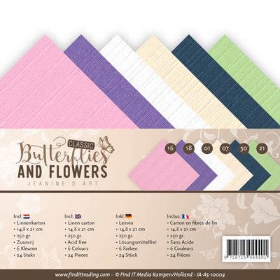 JA-A5-10004 Linnenpakket - A5- Jeanines Art - Classic Butterflies and Flowers