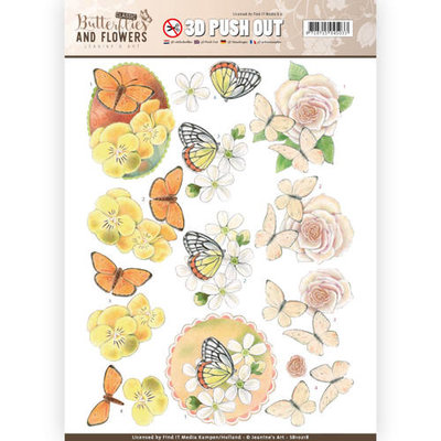 SB10218 – 3D Push Out - Jeanine's Art - Classic Butterflies and Flowers - Lovely Butterflies