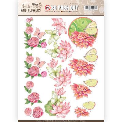 SB10220 – 3D Push Out - Jeanine's Art - Classic Butterflies and Flowers - Sweet Butterflies