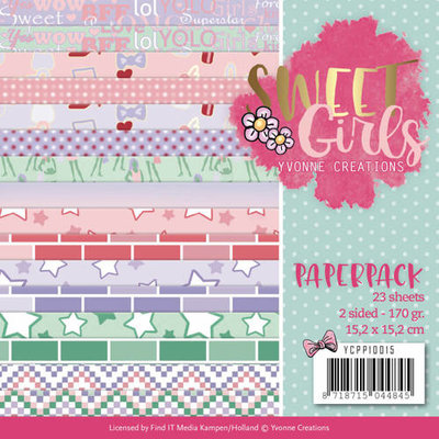 YCPP10015 Paperpack - Yvonne Creations - Sweet Girls