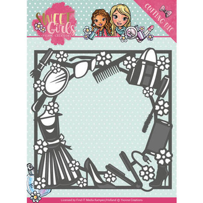 YCD10119 Die - Yvonne Creations - Sweet Girls - Fashion Frame