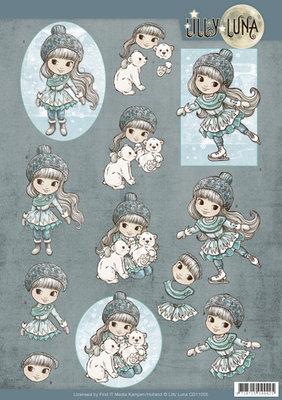 CD11005 - 3D Knipvel - Lilly Luna - Ice Princess