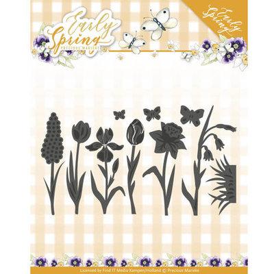 PM10115 – Die - Precious Marieke - Early Spring - Spring Flowers and Butterfly Dies