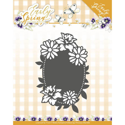 PM10114 – Die - Precious Marieke - Early Spring - Spring Flowers Oval label