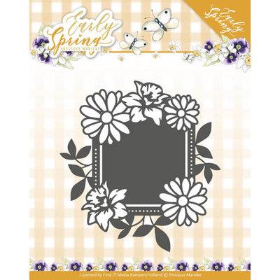 PM10113 – Die - Precious Marieke - Early Spring - Spring Flowers Square label