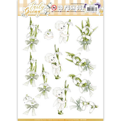 SB10228 – 3D Pushout - Precious Marieke - Early Spring - Early Snowdrops