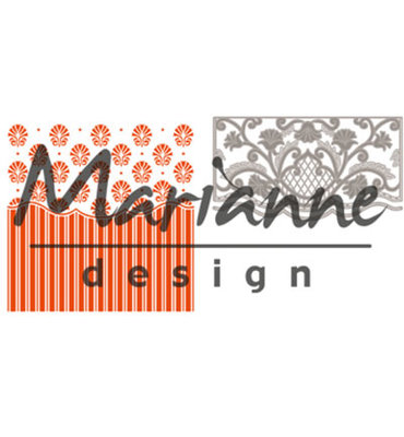 DF3443 - Marianne Design - Design Folder - Anja's Ornament Border  - Folder + Die - 141x141mm