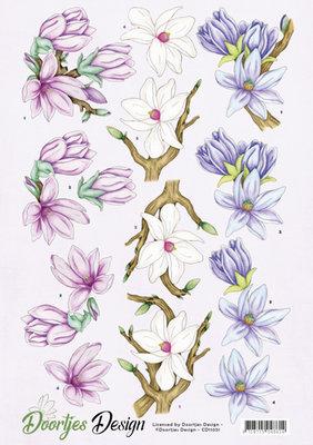 CD11051 - 3D knipvel - Doortjes Design - Flowers