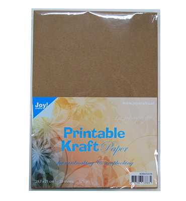 8089/0209 - Joy Crafts - Printable Kraft papier - A4 - 175grs - 25 sheets