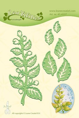45.4537 Leane Creatief - Lea'bilitie Cutting/Embossing - Twig & Leaves