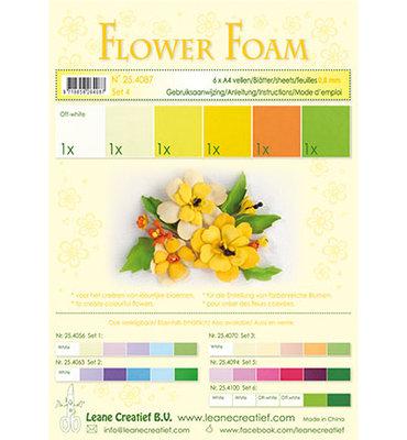 25.4087 Leane Creatief - Foam sheets assorti - Set 4 Yellow Colours