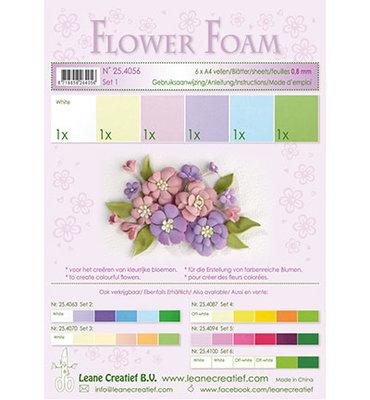 25.4056 Leane Creatief - Foam sheets assorti - Set 1 Pastel Colours