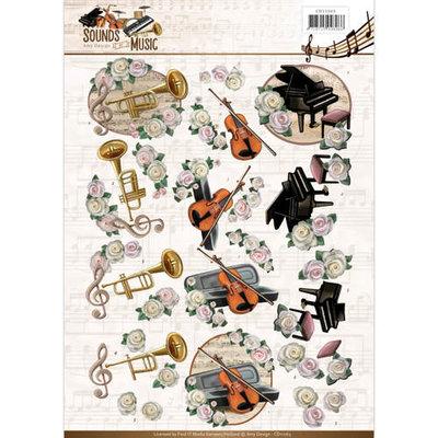 CD11063 - 3D Knipvel - Amy Design - Sounds of Music - Classic