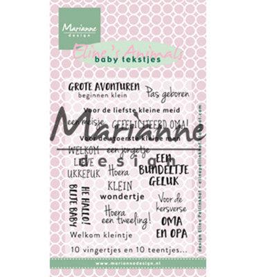 EC0171 - Marianne Design - Clear Stamps -  Eline's baby tekstjes
