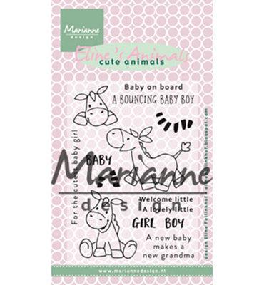 EC0170 - Marianne Design - Clear Stamps -  Eline's zebra en donkey