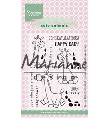 EC0169 - Marianne Design - Clear Stamps -  Eline's Giraffe