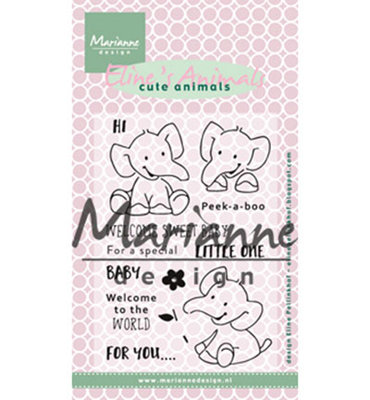 EC0168 - Marianne Design - Clear Stamps -  Eline's Elephant