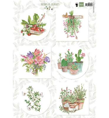 EWK1255 - Marianne Design - Knipvel - Els Herbs and leaves 2
