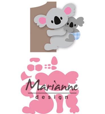 COL1448 - Marianne Design - Collectables - Elines Koala and Baby 86x64mm