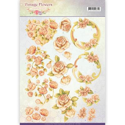 CD11045 - 3D Knipvel - Jeanine's Art - Vintage Flowers - Romantic Vintage