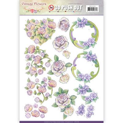SB10236 - Pushout - Jeanine's Art - Vintage Flowers - Romantic Purple