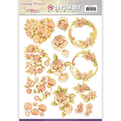SB10237 - Pushout - Jeanine's Art - Vintage Flowers - Romantic Vintage