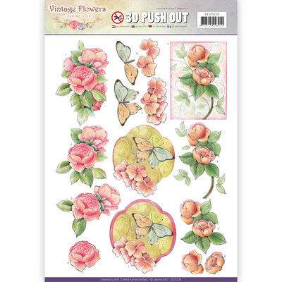 SB10238 - Pushout - Jeanine's Art - Vintage Flowers - Sweetheart Vintage