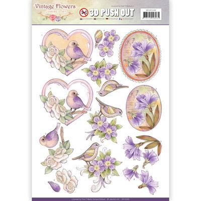 SB10240 - Pushout - Jeanine's Art - Vintage Flowers - Pale Violet