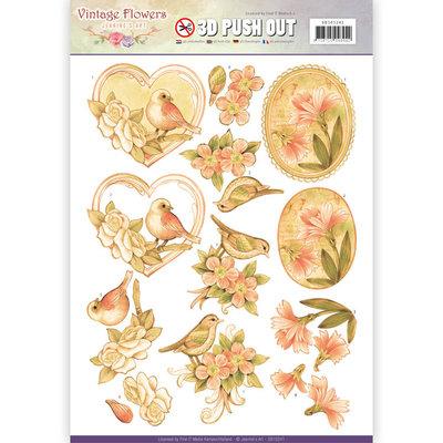 SB10241 - Pushout - Jeanine's Art - Vintage Flowers - Pale Vintage
